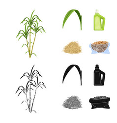 Farm and agriculture icon vector
