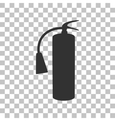 Fire extinguisher sign Dark gray icon on vector image