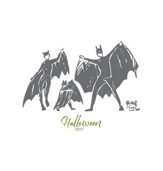 halloween concept sketch isolated vector image