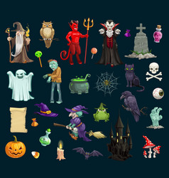 halloween holiday evil characters vector image