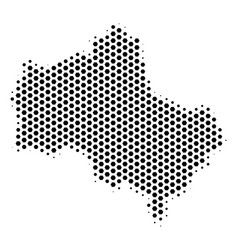 Hexagonal moscow oblast map vector