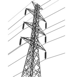 High voltage power pole vector