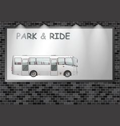 illuminated advertising billboard park and ride vector image
