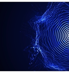 Illuminated shape particles array vector