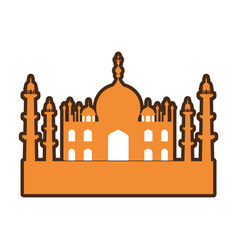 India taj mahal building vector