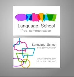 Language school logo vector