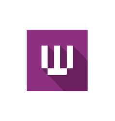 Letter w logo design vector