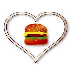 Love burgers vector