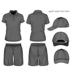 Men sport clothes vector image