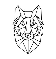 modern geometry wolf design tattoo image vector image