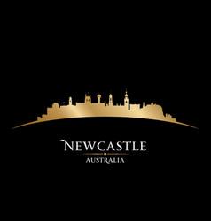 Newcastle australia city silhouette black vector