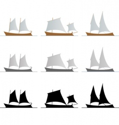 nine ships vector image vector image