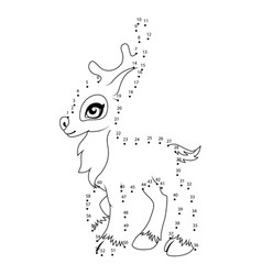 number game little deer vector image