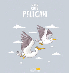 pelican two vector image