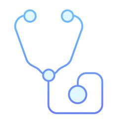 Phonendoscope flat icon medical equipment blue vector