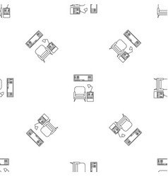 reading armchair pattern seamless vector image