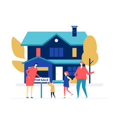 Real estate agency - colorful flat design style vector