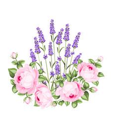 Rose garland vector