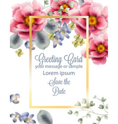 roses card delicate summer card vector image