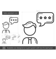 Sales assistant line icon vector