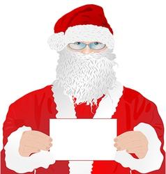 Santa Claus with blank vector