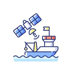 Satellite communication rgb color icon vector