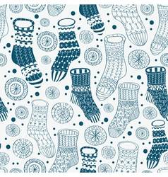 Seamless hand drawn socks vector