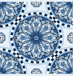 Seamless ornamental background blue colored vector