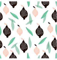 seamless pattern with creative modern lemons hand vector image