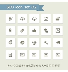 SEO icons set 2 Simple flat buttons vector image