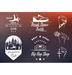 Set of Badges Logos and Sign Break Dance vector