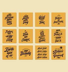 Set of cards with quotes vector