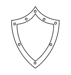 shield protection security technology data vector image