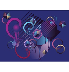 Stylized blue background vector