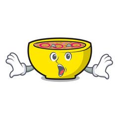 Surprised soup union mascot cartoon vector