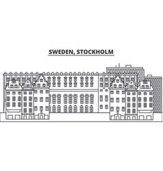 sweden stockholm line skyline vector image
