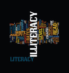 The problem of illiteracy text background word vector