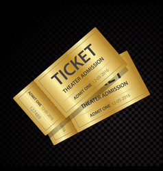 Two tickets and coupons templates vector