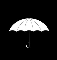 umbrella side view icon isolated on black vector image