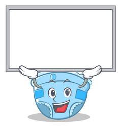 Up board baby diaper character cartoon vector