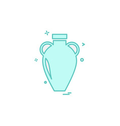 vase icon design vector image