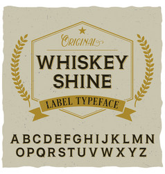 Whiskey shine poster vector