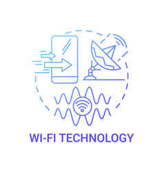 Wi-fi technology gradient blue concept icon vector
