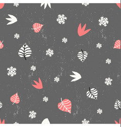 Winter Floral Seamless Pattern vector image vector image