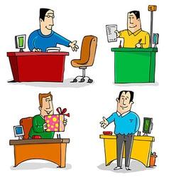 Workers in office vector