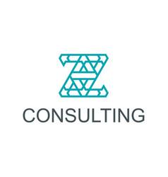 Z initial logo design simple minimalist vector