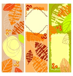 Autumn banners vector image