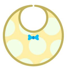 baby bib icon vector image