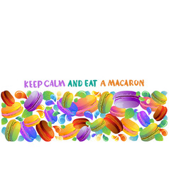 colorful french macaron cookies with drops vector image vector image