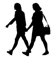 couples man and woman silhouettes on a white vector image